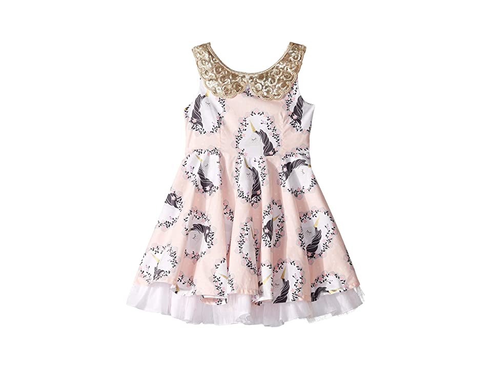 fiveloaves twofish Fashionista Unicorn Dress (Toddler/Little kids) (Pink) Girl