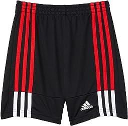 Clashing 3-Stripes Shorts (Toddler/Little Kids)