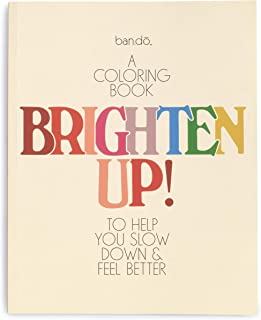 ban.do Wellness Coloring Workbook with 84 Pages, Stress Relieving Adult Color Book with Perforated Sheets, Brighten Up