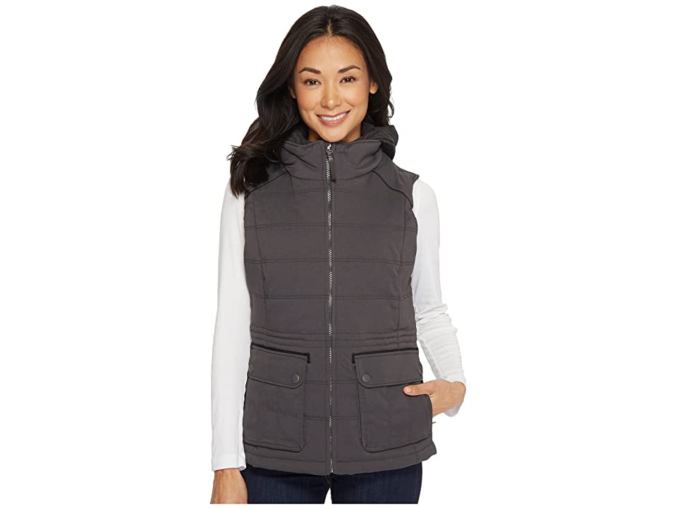 Prana Halle Insulated Vest (Charcoal) Women