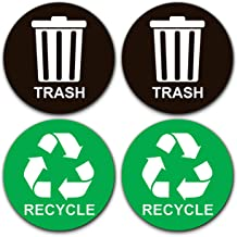 """Recycle Sticker for Trash Can - Perfect Bin Labels - 5"""" by 5"""" - Ideal Signs for use on Home or Office Refuse Bins - Suitab..."""