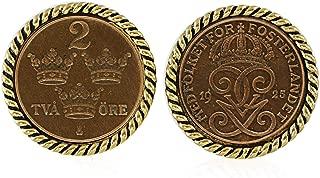Swedish Coin ORE Crown Cufflinks