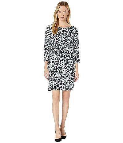 Tommy Bahama Desert Cat 3/4 Sleeve Shift Dress (Black) Women