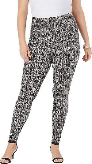 Roamans Womens Plus Size Ankle-Length Essential Stretch Legging Activewear Workout Yoga Pants
