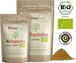 Bio Hagebuttenpulver (500g) | ganze Hagebutte gemahlen | 100% ECHTES Bio Hagebutten Pulver in Rohkostqualität