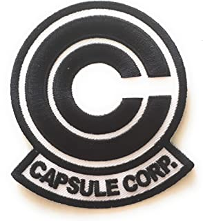 VH Anime Dragonball Z Capsule Corp. Embroidered Cosplay Patch (Black on White)