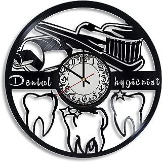 Dental Hygienist Vinyl Record Wall Clock, Dental Hygienist Gift for Any Occasion, Dentist Office Decor, Orthodontics Art