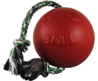 Jolly Pets Romp-n-Roll Rope Ball Dog Toy