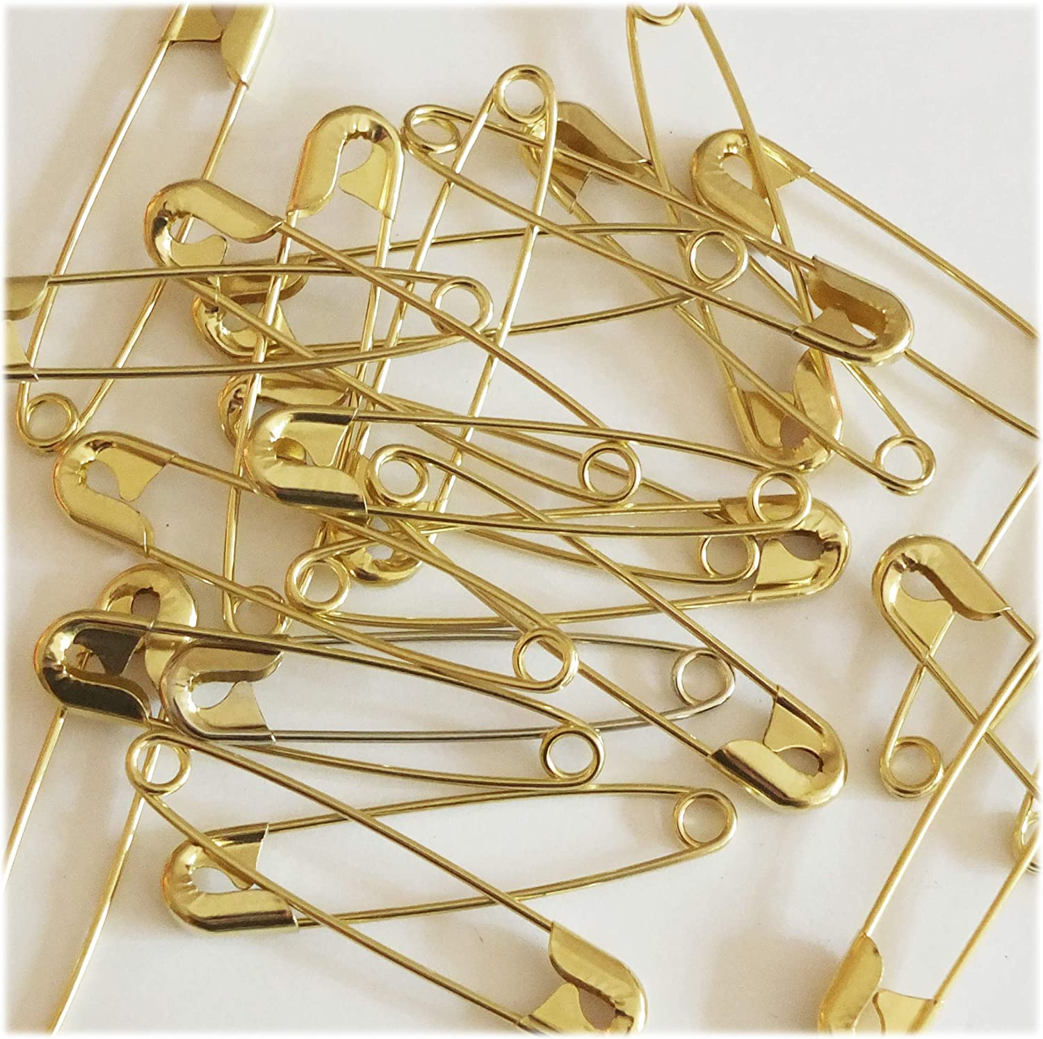 """SAFETY PINS Size 3 2"""" GOLD New Orleans Mall TONE in Made Limited time cheap sale 100 BULK PK USA"""