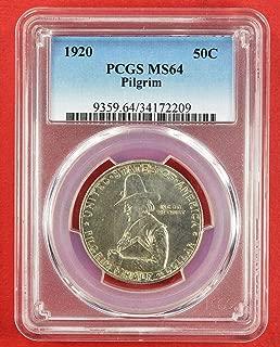 1920 Pilgrim Tercentenary Commemorative Half Dollar MS64 PCGS