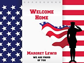 Custom Saluts Solider Army Military Theme Red White Blue Stars Personalized Poster USA Flag Colors, Coming Home Party Banner Wall Décor, Handmade Party Supply Poster Print Size 24x36, 48x24, 48x36