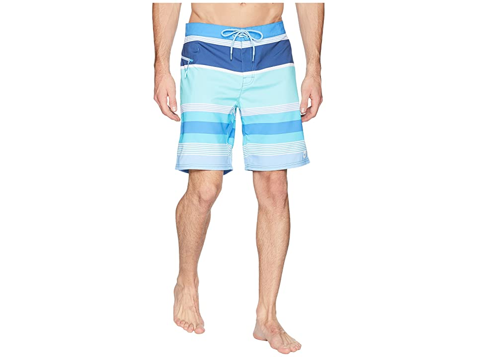 Vineyard Vines Peaks Island Stripe Boardshorts (Pool Side) Men