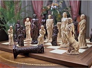 Design Toscano WU905560 Gods of Greek Mythology Chess Set: Includes Chess Pieces & Board