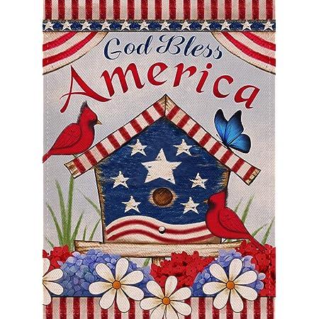 God Bless America Garden Flag House Banner Courtyard Flag Yard Banner