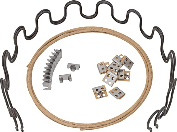 House2Home 27 Sofa Upholstery Spring Replacement Kit 2pk Springs Clips Wire For Furniture Chair Couch Repair Includes Instructions
