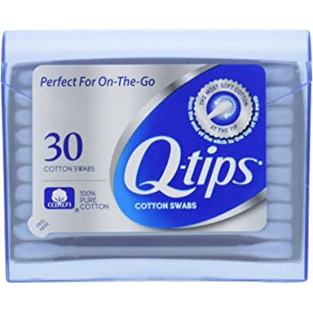 Q-tips Swabs Purse Pack 30 Each ( Pack of 3)