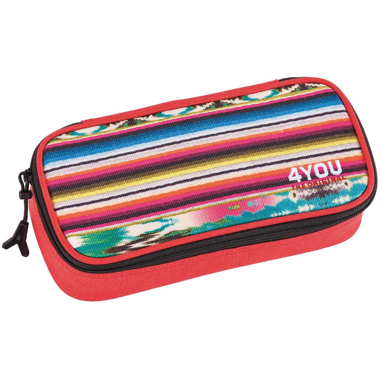 4YOU 274 - Estuche para lápices con separador (diseño étnico), color rojo: Amazon.es: Deportes y aire libre