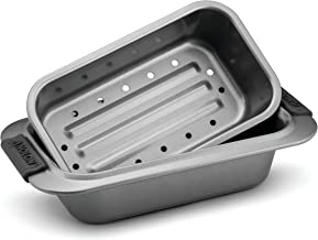 Anolon Advanced Nonstick Bakeware 2-Piece Loaf Pan Set, Gray with Silicone Grips, Grey,..
