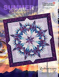 Summer Solstice Quilt Pattern 60 x 60~Foundation Paper Piecing Pattern by Judy Niemeyer of Quiltworx
