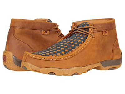 Twisted X Chukka Driving Moc (Little Kid/Big Kid) (Oiled Saddle/Midnight) Shoes