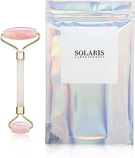 Rose Quartz Facial Roller - Premium Quality by Solaris NY