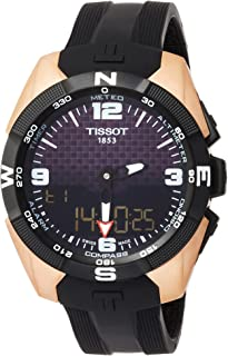 T-Touch Black Dial Silicone Strap Men's Watch T0914204720700
