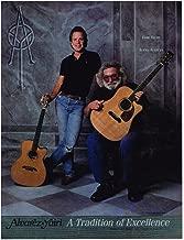 Alvarez Yairi Guitars - Jerry Garcia & Bob Weir - 1992 Print Advertisement