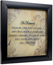 Elanze Designs In Memory Bereavement 12 x 12 Black Wood Shadow Box Framed Sign Plaque