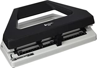 REXEL R08909 Hole Punch,H,Duty 4HOLE BLK,Gry 30SHT