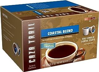 Caza Trail Coffee, Coastal Blend, 100 Single Serve Cups
