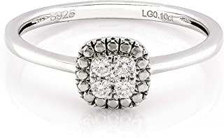 Best sterling silver diamond cluster ring Reviews