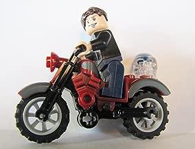 LEGO Indiana Jones Mutt Williams Minifigure, Red Classic Motorcycle & Skull Kingdom of the Crystal Skull