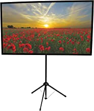 GO-60 Portable Projector Screen | 60 inch | Mounts on Tripod AND Wall | 16:9 format | 9 lbs | 2 minute setup | Includes Carrying Bag | For Mobile presentation and Home Entertainment |4K Ultra HD ready