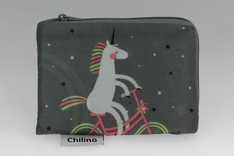 Bolsa plegable para el hogar 47 x 41 cm Chilino Flamingo color azul claro rosa