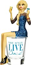 Hiccup by H2Z 73701 You Only Live Once Girl in Shot Glass, 5-3/4-Inch High