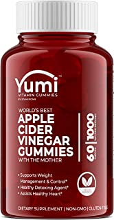Apple Cider Vinegar Gummies with Raw Organic ACV from The Mother - Paired with Vitamin B, Pomegranate & Beet Juice Powder to Detox, Cleanse & Support Immunity (GMO, Gluten-Free & Vegan) 60 Gummies
