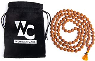 Wonder Care Rudra Devine 8 mm Beads Natural Rudraksha Mala Spiritually Energized Great Mala Tibetan Buddhist Rosary Prayer...