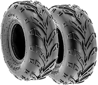 Pair of 2 SunF A004 ATV Go-Karts 145/70-6 AT off-road Tires, Trail & Track, 6 PR, Tubeless
