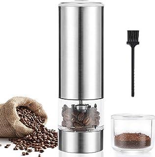 Moongiantgo Kaffekvarn elektrisk bärbar och kompakt med 5 exakta steg justerbar keramisk konisk burk, beröring start och U...