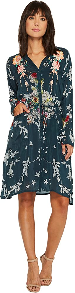 Johnny Was - Dover Block Embroidery Dress with Slip