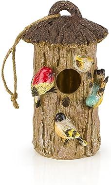 Dawhud Direct Oak Tree Decorative Hand-Painted Bird House