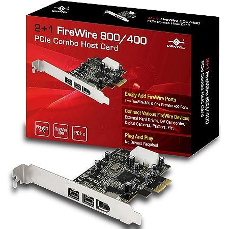 Vantec 2+1 FireWire 800/400 PCIe Combo Host Card (UGT-FW210)