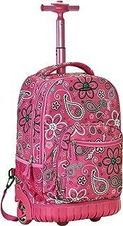 Luggage 19 Inch Rolling Backpack Printed, Bandana, Medium