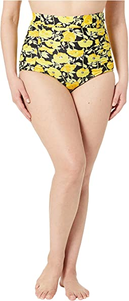 Plus Size Monroe High-Waist Swim Bottoms