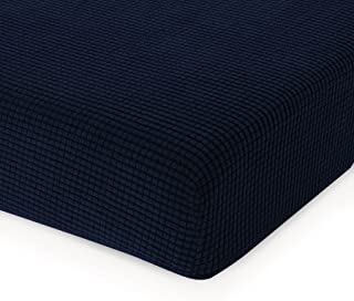 CHUN YI Jacquard Cushion Covers High Stretch Loveseat Slipcover Furniture Protector for Sofa Settee and Couch Seat Coat(Chair, Dark Blue),