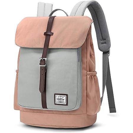 WindTook Rucksack Damen Schulrucksack Daypack Tagesrucksack mit USB Anschluss für 14 Zoll Laptop , Uni Büro Freizeit Arbeit Schule, 28 x16 x 37 cm, Rosa