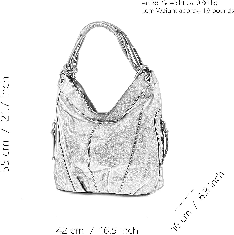 modamoda de - dames italiennes en cuir/cuir Nappa sac à main Z18 Cuir Bleu Foncé