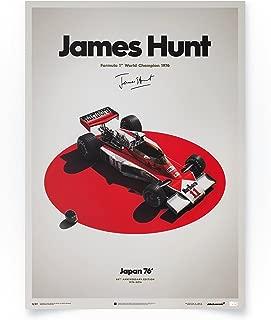 Automobilist McLaren M23 - James Hunt - Japanese Grand Prix - Unique Design Limited Edition Poster - Standard Poster Size 19 ¾ x 27 ½ Inch