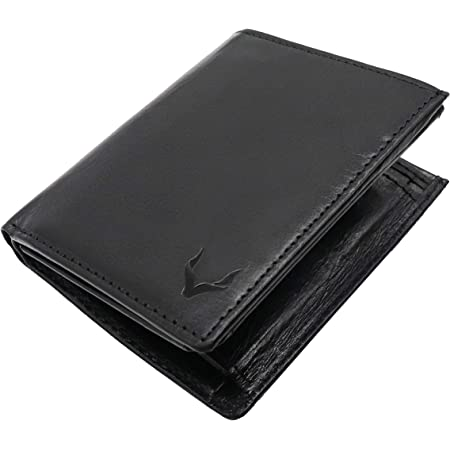 Pelle Toro Portrait Mens Wallet Leather, Handmade Real Leather Wallet for Men, Trifold 13 Card Wallet with Coin Pocket, ID Window, 2 Note Slots, RFID Wallet in Mens Gift Box, Black Wallet