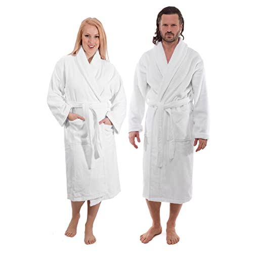 c90452bf07 Classic Turkish Towels Luxury Terry Cloth Bathrobe - Premium Hotel Robes -  Made with 100%